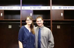 Trish and Aaron Pogue at AT&T Stadium